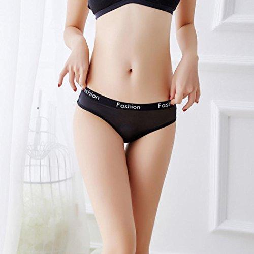 Amazon.com  Elogoog Women s Breathable Cotton Lace Thong Panties Mini Low  Waist Sexy Lingerie Underwear (Black)  Clothing 19d41d66b