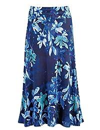 LEEBE Women's Plus Size Maxi Skirt (1X-5X)