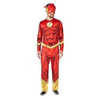 Flash Justic League Deluxe Men/'s Fancy Dress Costume