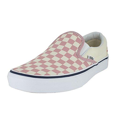 Vans Mens U Clasic Slip ON Checkerboard Zephyr Pink Size 7 (Pink Van)