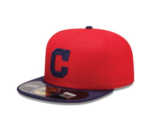 Practice Indians Batting Cleveland - MLB Cleveland Indians Diamond Era 59Fifty Baseball Cap,Cleveland Indians,758