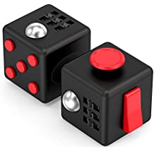Trianium (2 Pack) Fidget Fidget Cube Focus Toy figit Ball Prime Quality Anti-Stress/Anxiety Toys for Children, Teen, Student, Adult Finger Dice Stress Reliever for Work, School, Class (TM000157)