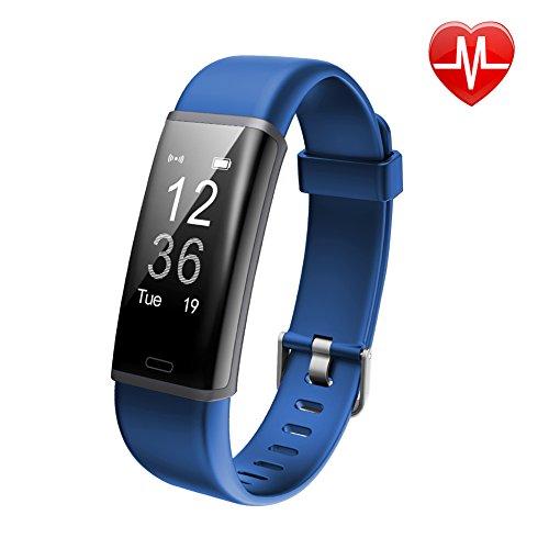 Lintelek Fitness Tracker, Heart Rate Monitor, Activity Tracker IP67 Waterproof, Sleep Monitor Remote Camera, Multiple Sports, Bluetooth Pedometer, Smart Watch for Kids Women and Men.