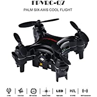 Mini Pocket Quadcopter Drone,FPVRC Q7 ,6Axis Gyro RC Nano Quadcopter Airplane with 3D Flip RC Helicopter (Black)