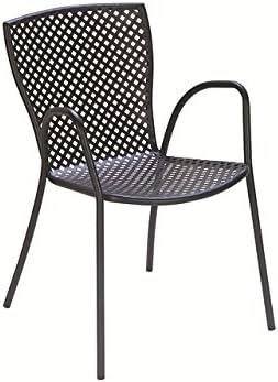 Silla de jardín apilable de metal de hierro para exterior, jardín, terraza, patio, bar, restaurante: Amazon.es: Hogar