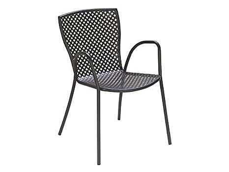 RD ITALIA Silla sillón apilable de Metal Hierro para ...