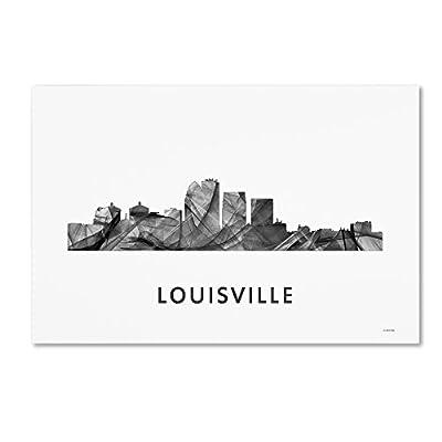 Trademark Fine Art MW0456-C1219GG Louisville Kentucky Skyline WB-BW by Marlene Watson
