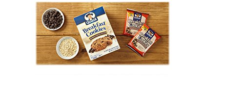 Quaker Breakfast Cookies, Oatmeal Chocolate Chip, 6 Cookies Per Box,net weight 10.1 Oz(288g), (Pack of 6)