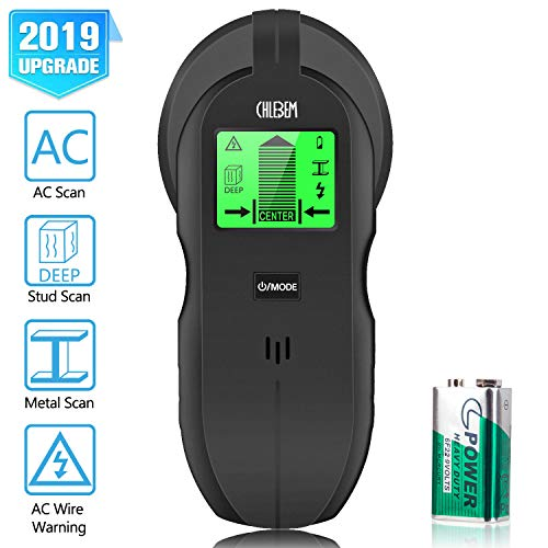 Stud Finder Wall Scanner - 4 in 1 Electronic Center Finding Stud Finders Sensor Wall Finder Detector, with Digital LCD Display & Sound Warning for Wood Metal AC Wires Studs Detection
