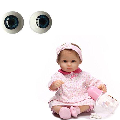 - Nesee 22mm-Reborn-Baby-Dolls-Eyes-Half-Round-Acrylic-Eyes-Brown-for-BJD-OOAK-Doll DIY Reborn Baby Dolls Acrylic (Dark Blue)