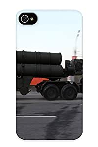 Creatingyourself Rugged Skin Case Cover For Iphone 4/4s- Eco-friendly Packaging(april29th Rehearsal Of 2014 Victory Day Parade In Moscow Russia Red Star Russian Military Armytel For S400 Missile System)