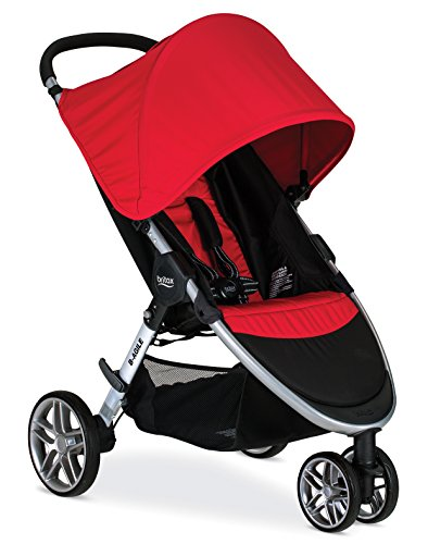 Britax 2017 B-Agile Lightweight Stroller, Red