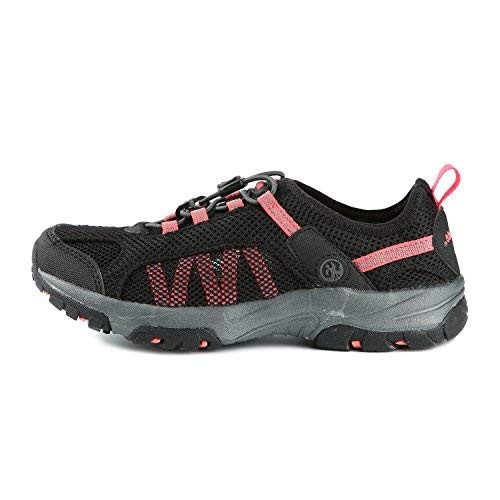 Northside Women's Niagara Water Shoes, Black/Hot Coral 10