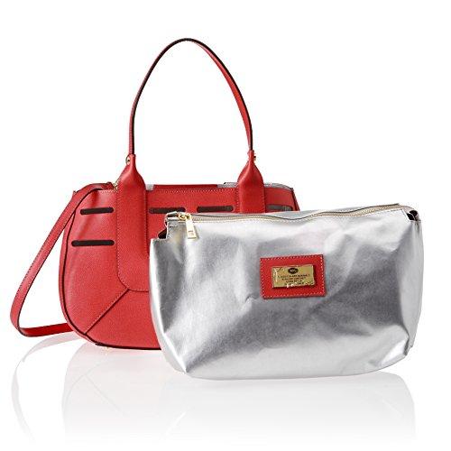 Chicca Borse 8685, Borsa a Spalla Donna, 36x23x14 cm (W x H x L) Rosso (Red)