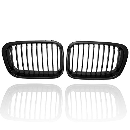 - Matte Black Euro Front Upper Kidney Grille Grill For BMW 98-01 E46 4-Door Sedan 320i 323i 325i 328i 330i