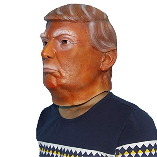QueenA - Donald Trump Latex Mask - Presidential Mask of Celebrity Celebrities, Halloween, Costume, Carnival, Christmas, Easter, Party Mask - -