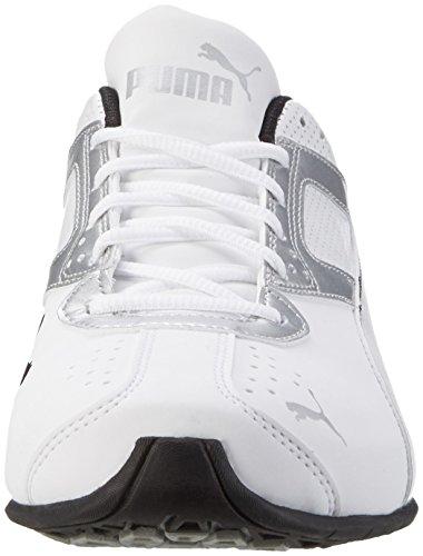 Puma Tazon 6 Fm, Zapatillas de Deporte para Exterior para Hombre Blanco (White-silver-black)