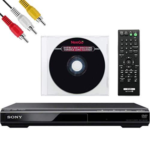 Sony DVPSR210P DVD Progressive Scan Player - AV Cable - NeeGo Lens Cleaner (Sony Dvd Dvpsr210p Player)