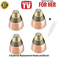 Eyebrow Hair Removal Replacement Heads for Women's Painless Eyebrows Hair Remover Trimmer For Good Finishing and Well Touch, As Seen On TV, Count 4