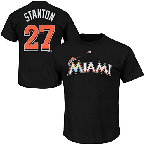 Giancarlo Stanton Miami Marlins Youth Jersey T-Shirt - Black (Medium) (T-shirt Jacket Jersey)