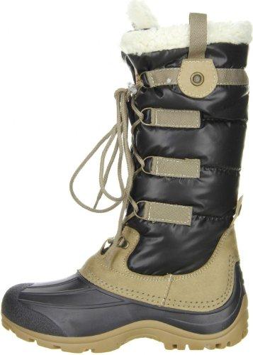 San Bernardo 80-Canad Damen Stiefel Schwarz/schwarz/beige