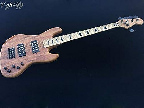 Flame Maple 5 cuerdas, bajo eléctrico activo, cuello de arce, 43 ...