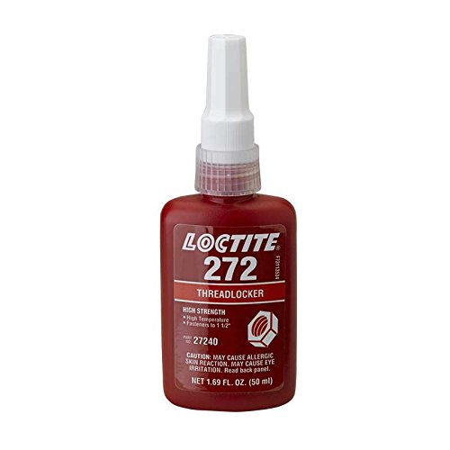 272 Threadlocker, High Strength, High Temperature, 50 ml Bottle by Loctite