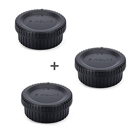 JJC Rear Lens Cap & Body Cap Cover JJC for Nikon F Mount D3500 D3400 D3300 D3200 D3100 D7500 D7200 D7100 D5600 D5500 D5300 D5200 D5100 D850 D810A D810 D800 - Lens Nikon Rear Cap