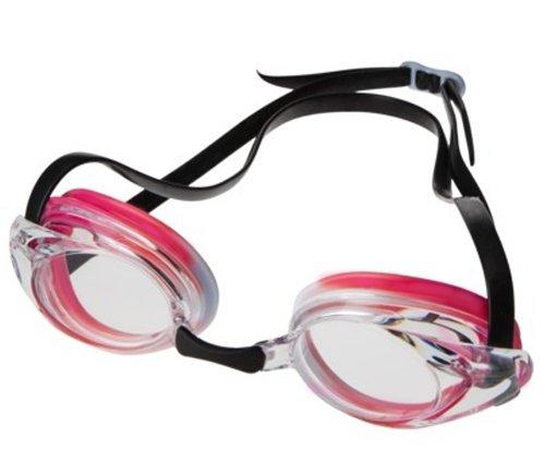 Speedo Jr. Record Breaker Goggles - Pink, Black, White, Orange by Speedo