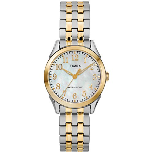 Timex Women's TW2R48400 Briarwood Two-Tone/MOP Stainless Steel Expansion Band (Timex Stainless Steel Wrist Watch)