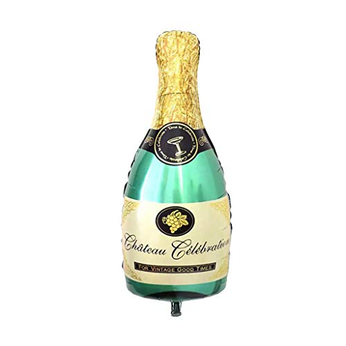 MSOO Champagne Wine Bottle Balloons Happy Birthday Party Decoration Aluminum Foil (A) -