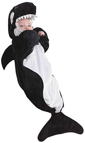 UHC Baby's Adorable Plush Whale Bunting Infant Newborn Halloween Costume, OS (0-6M) -