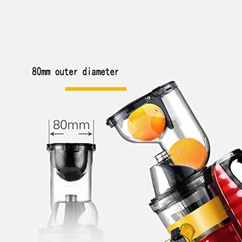 LYGACX Exprimidor automático de Frutas y Verduras de Gran Calibre para el hogar, máquina de jugos de Frutas Multifuncional, Calibre Grande de 80 mm