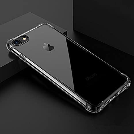 96880b32a38 Coque iPhone 8, Coque iPhone 7, eDriveTech Transparent Crystal Ultra-Fine  Antichoc Bumper