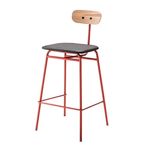 デザインハイチェア/カウンターチェア 【レッド】 スチールフレーム 張地:合成皮革/合皮 PLC-511RD 生活用品 インテリア 雑貨 インテリア 家具 椅子 その他の椅子 top1-ds-1937565-ah [簡素パッケージ品] B075N5SXRN