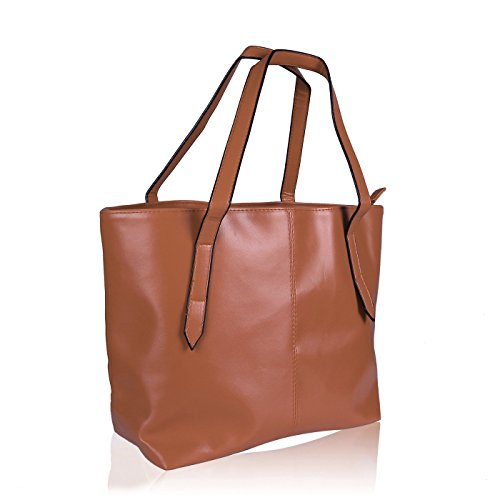 HDE Womens Leather Carryall Handbag product image
