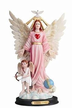 12 Inch Archangel Angel Chamuel Samuel Santo San Statue Collectible Figurine St