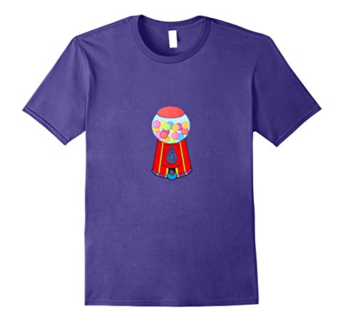 Bubblegum Costume Diy (Mens Gumball Machine Bubblegum Halloween Costume T-Shirt Tee Small Purple)