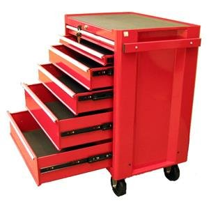 Excel 6 Drawer Red Roller Metal Tool Chest   Excellent Garage Storage  Solution With Wheels