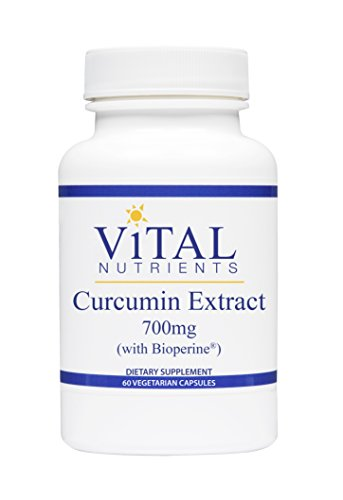 Vital Nutrients - Curcumin Extract 700 mg (with Bioperine) - Nutritional Support for Normal Tissue Health - 60 Capsules