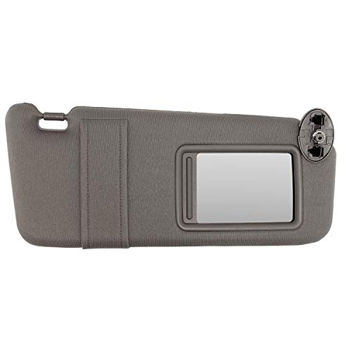- SAILEAD Sun Visor Right Passenger Gray for 2007 2008 2009 2010 2011 Toyota Camry Without Sunroof and Light