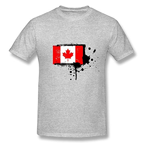 CENJOAN Canada Short Sleeve T-Shirt Cotton Tee Mens -