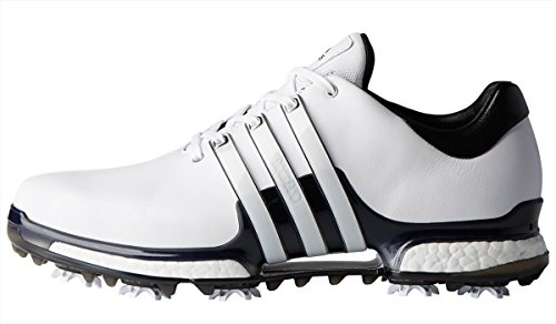 adidas Men's Tour 360 2.0 Golf Shoe, White/Black, 10.5 M US