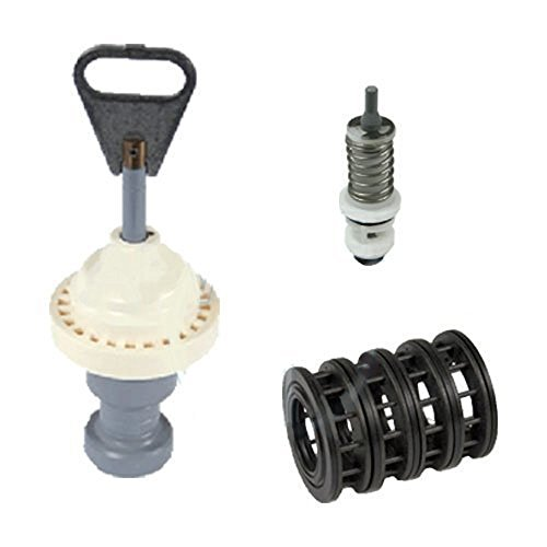 Fleck 5600 softener valve rebuild kit includes piston 60102-00 seals spacers 60125 brine valve 60032