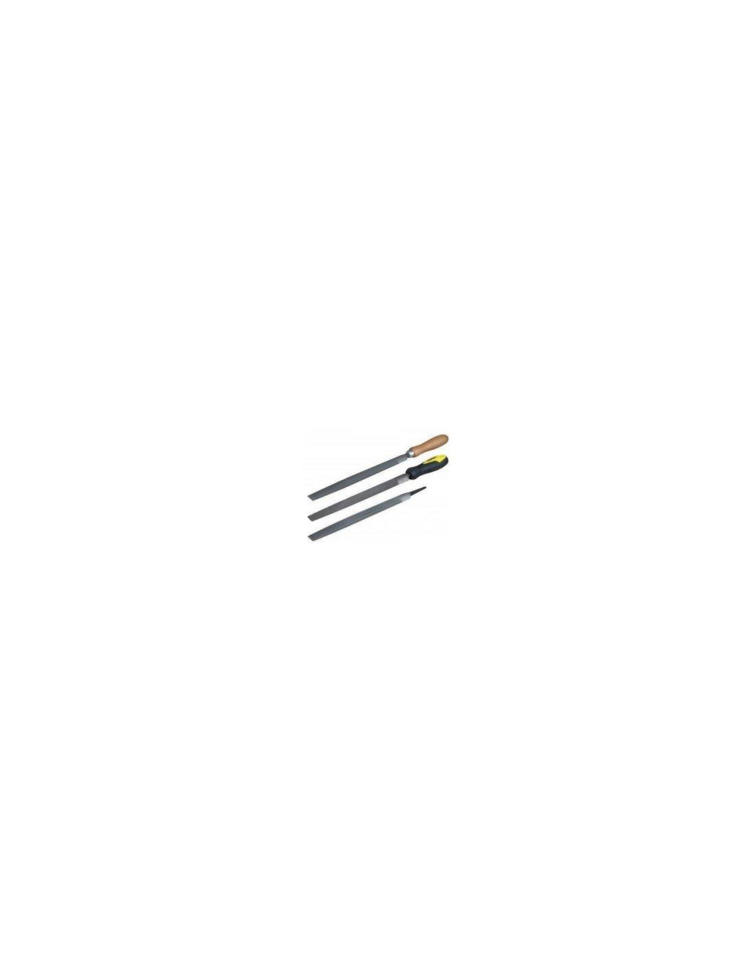 SAM Outillage LDR-25-ME Lime demi-ronde /à main mi-douce Longueur 375 mm