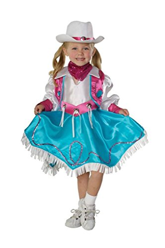 Ponce Girls CowGirl Costume Dress Pink Blue White Cow Girl Western Rodeo Childs (Zombie Cowgirl Costumes)