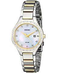 Seiko Womens SUT136 Dress Solar Analog Display Japanese Quartz Gold Watch