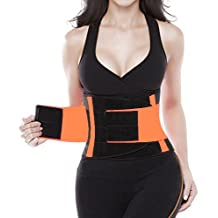 Ladieshow Waist Trainer Belt Trimmer Body Shaper Girdle GYM Sport Belt for Weight Loss Workout Fitness(L)