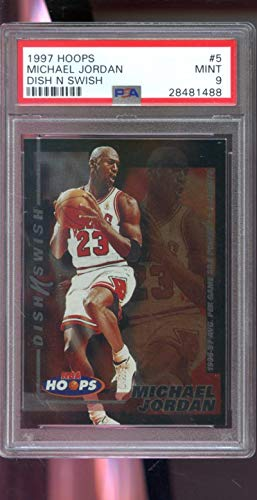 1997-98 Hoops Dish N Swish #5 Michael Jordan Insert MINT PSA 9 Graded NBA Basketball Card