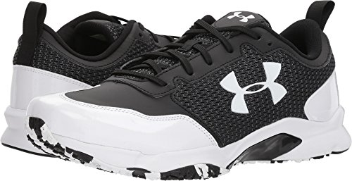 Under Armour Men's UA Ultimate Turf Trainer Black/White 11 D US (Baseball Trainer White Low)